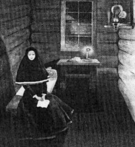 Анна Бестужева Якутском монастыре. Худ. И. Попов