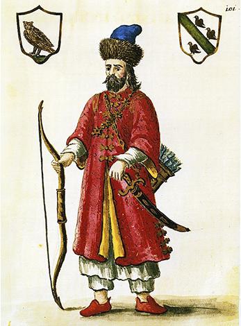 Марко Поло в татарском наряде, рисунок XVIII века