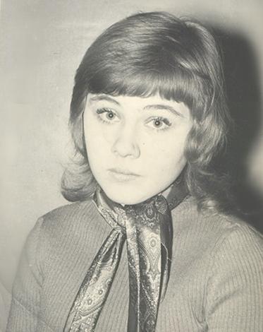 Ирина Грибулина в юности