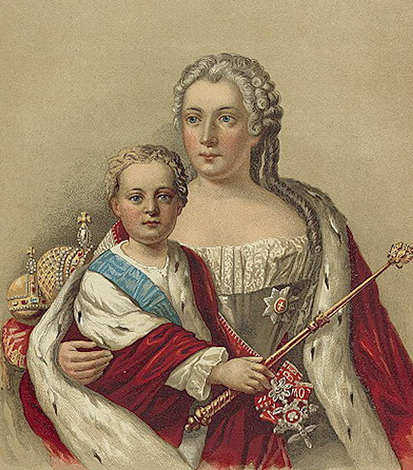Анна Леопольдовна с сыном Иваном VI