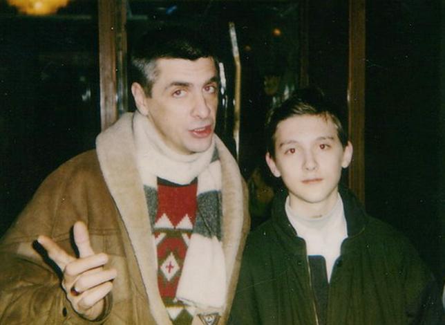 С сыном Артемом