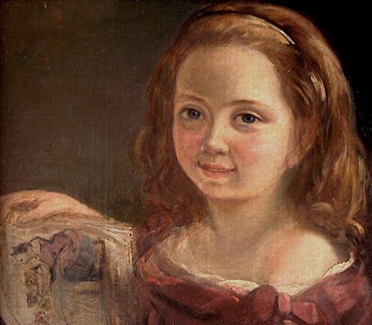 Ада Байрон в 7 лет, картина Альфреда д'Орсе, 1822 год