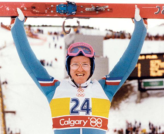 Эдди Эдвардс на Олимпиаде в Калгари 1988