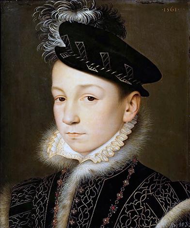 Портрет Карла IX вскоре после вступления на престол, картина Франсуа Клуэ