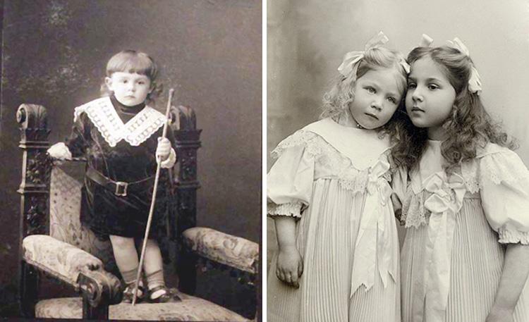Тамара Габбе в детстве (справа с сестрой Еленой)
