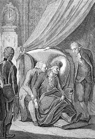 Смерть Фридриха II (гравюра 1796 г.)
