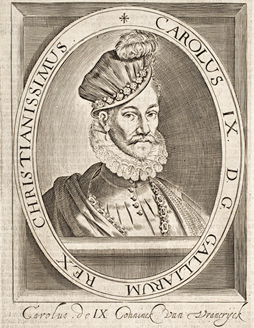 Карл IX на гравюре