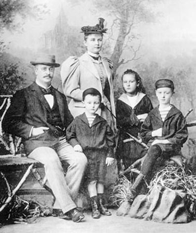 Рудольф Дизель с женой и детьми