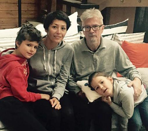 С Екатериной Волковой и детьми