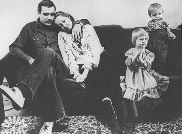 С Никитой Михалковым и детьми Анной и Артемом