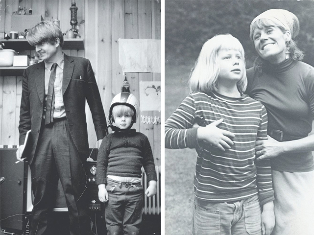 Борис Джонсон с папой и мамой в детстве