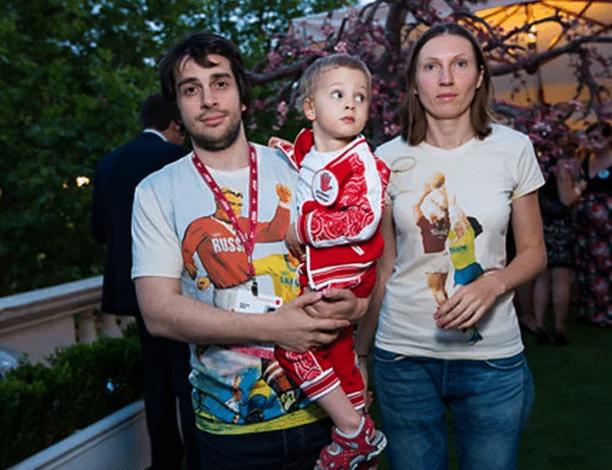 С женой Натальей и дочерью Варварой