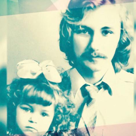 Юлия Николаева с отцом в детстве