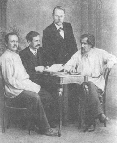 Е. Нечаев, М. Леонов, Ф. Шкулев, С. Дрожжин (1903)