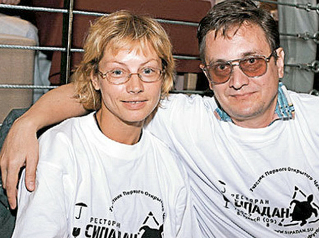 С первым мужем Виталием