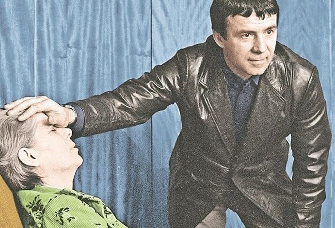 Анатолий Кашпировский с пациентом
