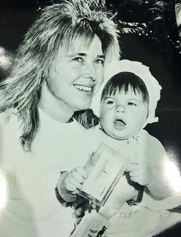 С дочерью Лаурой