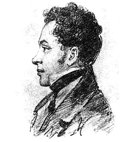 Лев Пушкин. Рисунок К. де Меетра. 1824-1825 гг.