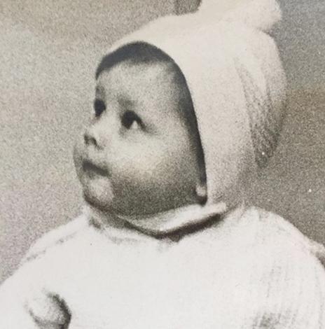 Алена Бабенко в младенчестве