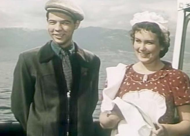 Изольда Извицкая и Раднэр Муратов на съемках «Богатырь» идет в Марто»
