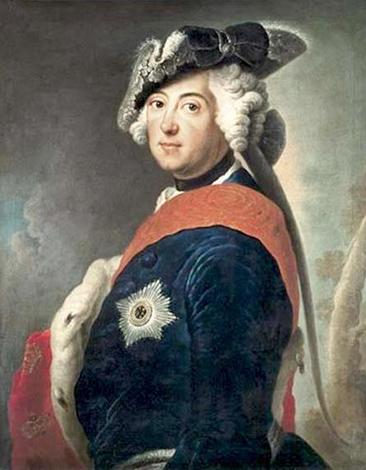 Фридрих II в парадном костюме. Худ. Антуан Пэн (ок. 1745 г.)
