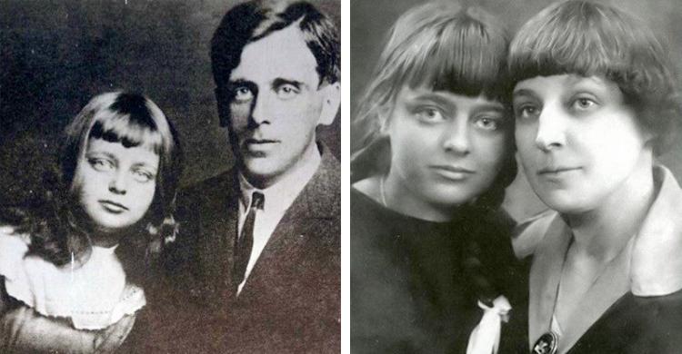 Ариадна Эфрон с папой и мамой