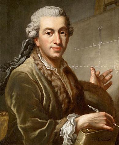 Пьер-Симон Лаплас. худ. Иоганн Эрнст Хейнсиус, 1775 г.