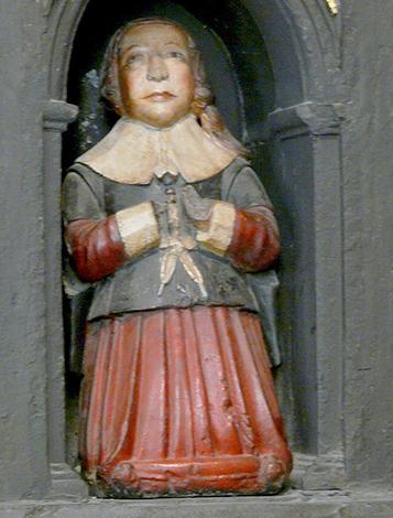 Скульптура мальчика, предположительно Бойля, на памятнике его родителям в соборе Святого Патрика в Дублине
