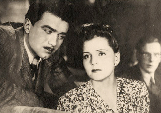 Михаил Кузнецов и Людмила Шабалина в фильме «Во имя жизни» (1946)