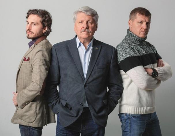 Сергей Паршин с сыновьями