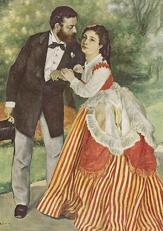 Альфред Сислей и его жена, худ. Пьер-Огюст Ренуар (1868 г.)