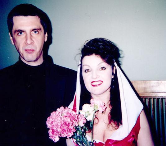 Со второй женой Людмилой