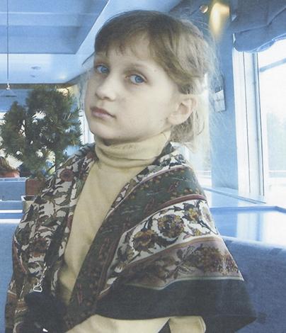 Полина Куценко в детстве
