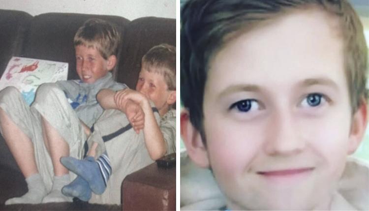 Алан Уокер в детстве (слева с братом)