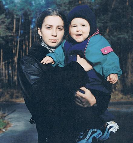 С дочерью Ульяной