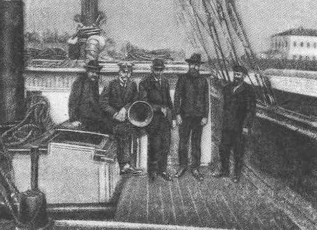 В составе экспедиции 1910 года: С. С. Иванов. Г. И. Поспелов, В. Д. Русанов, С. С. Четыркин, М. М. Крутловский.