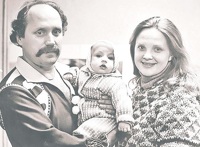 Со Светланой Пенкиной и сыном Валерием
