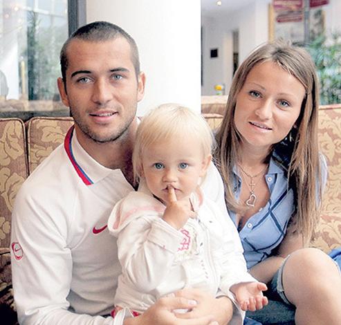 С первой женой Марией и дочерью Дарьей