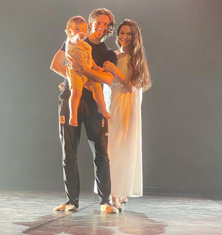 С Сергеем Полуниным и сыном Миром