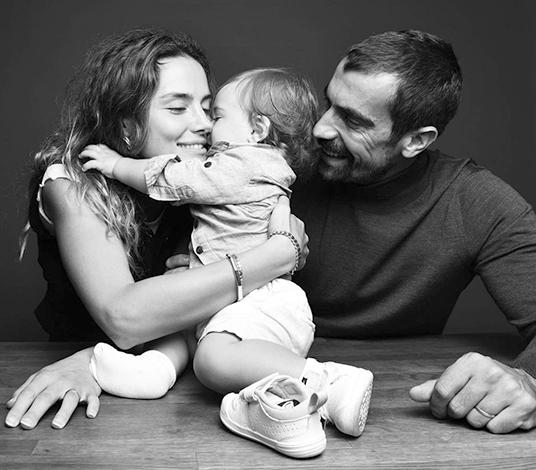 С женой Михран и сыном Али