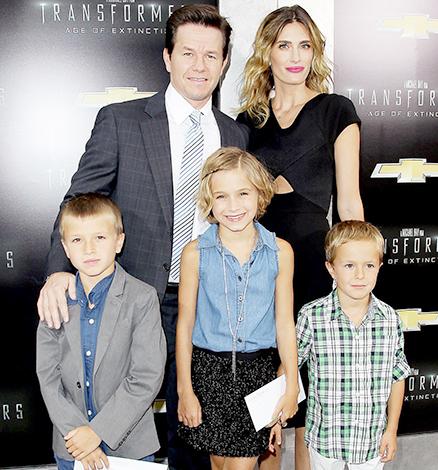 С Реей Дарем и детьми