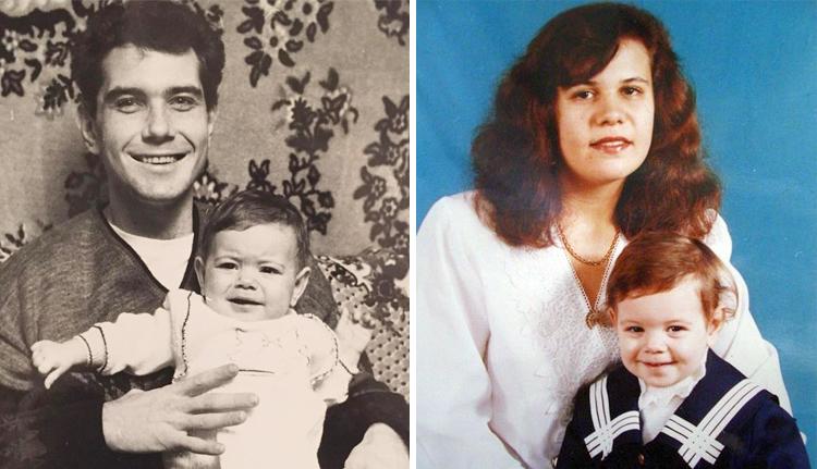 Елена Ильиных в детстве (с папой и мамой)