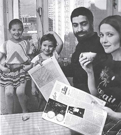 С Тамарой Глобой и детьми
