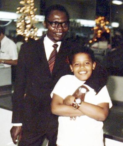 Барак Обама с отцом