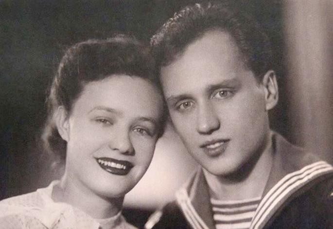 Владимир Мулявин с первой женой Лидией Кармальской