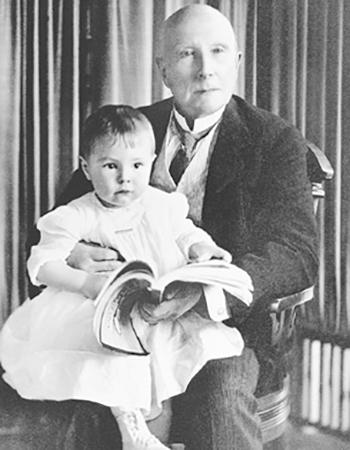 Джон Рокфеллер с внуком (1904)