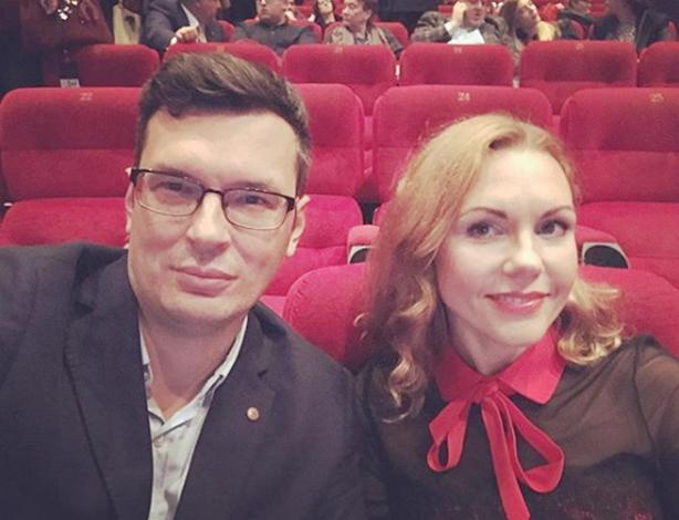 С мужем Дмитрием