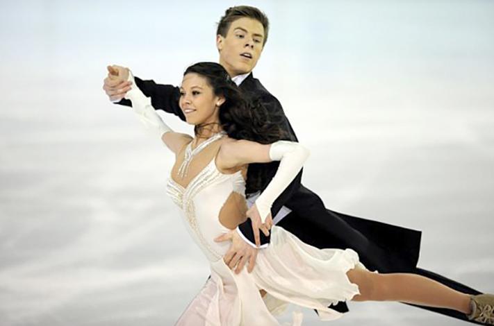 Елена Ильиных и Никита Кацалапов на льду