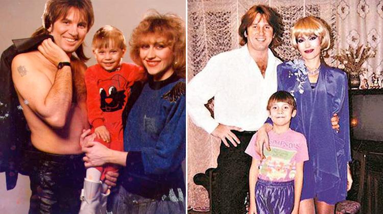 Олег Лоза с родителями в детстве