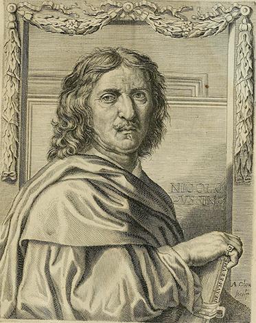 Никола Пуссен на гравюре из книги Беллори «La vita de' pittori, scultori et architetti moderni», 1672 г.
